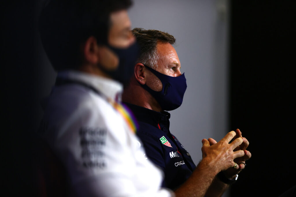 TOTO WOLFF; CHRISTIAN HORNER;