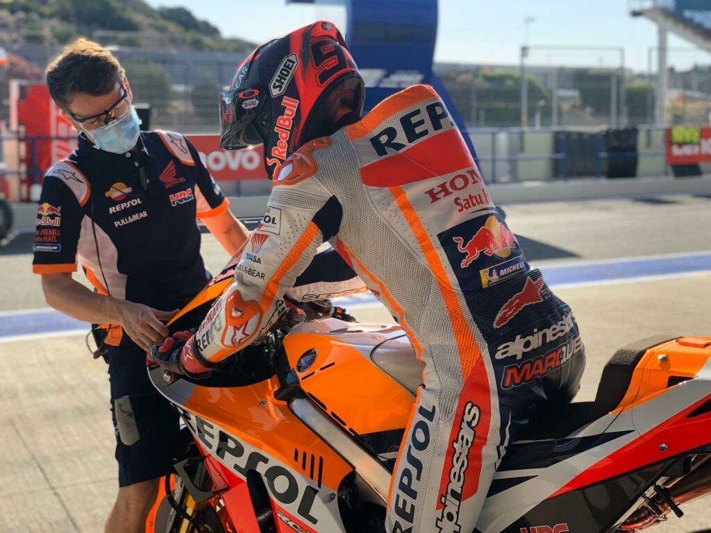MotoGP 2020 Espanha Jerez Teste Honda Marc Márquez