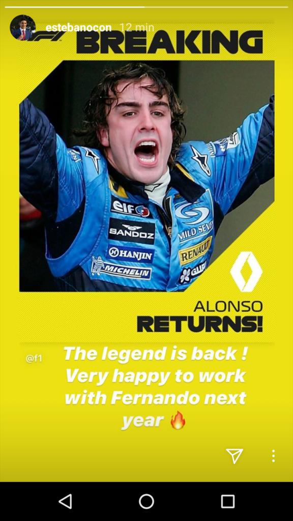 F1 2020 Renault Esteban Ocon