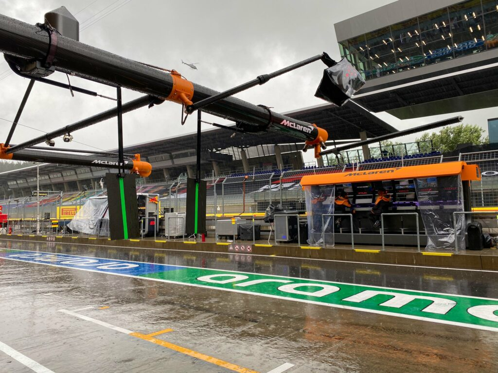 Chuva forte no Red Bull Ring