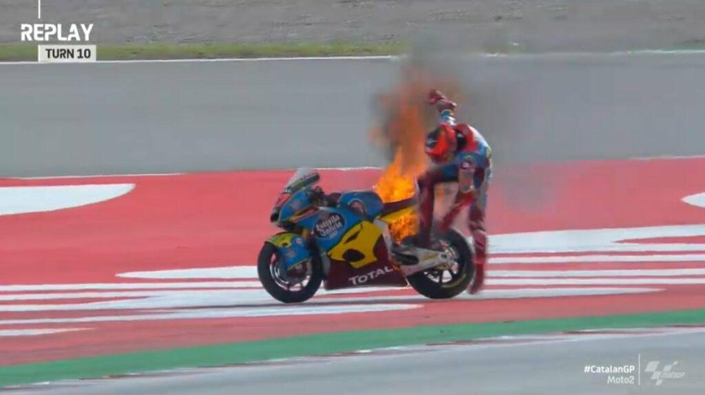 Augusto Fernández, Moto2 2020, GP da Catalunha