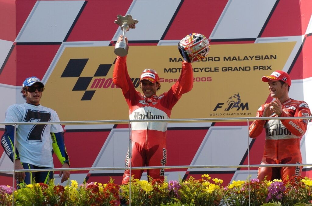 MotoGP 2005, GP da Malásia, Valentino Rossi, Loris Capirossi