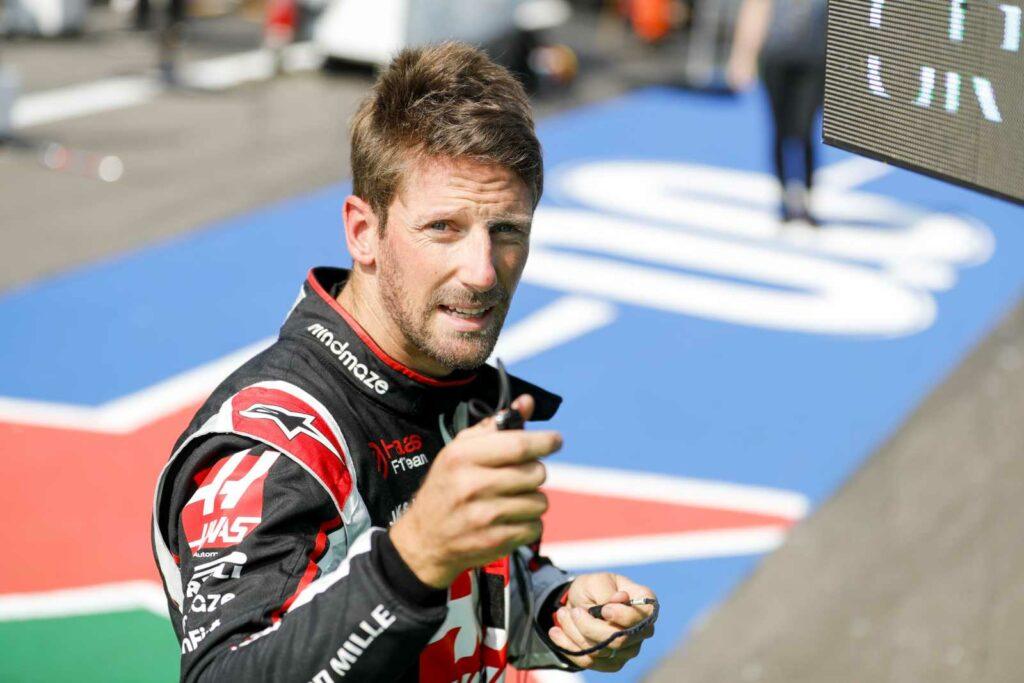 Romain Grosjean vibrou no rádio e com Gasly no parque fechado (Foto: Haas)