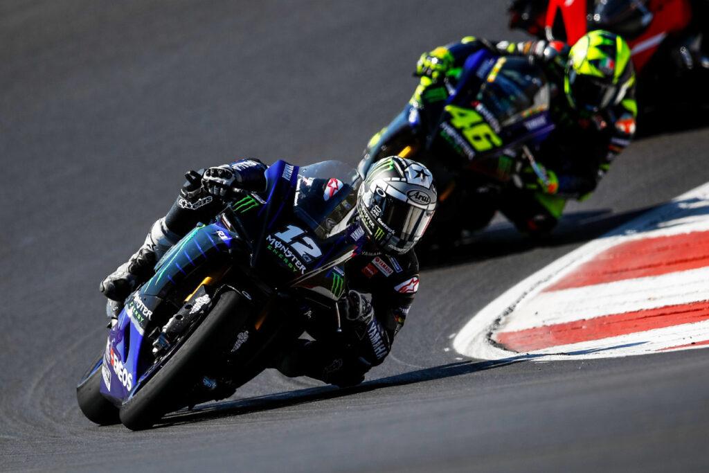 Maverick Viñales, Valentino Rossi, Yamaha, MotoGP 2020, Portimão, Teste