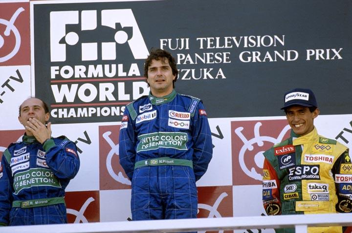 NELSON PIQUET; ROBERTO PUPO MORENO; AGURI SUZUKI; GP DO JAPÃO; F1; FÓRMULA 1; 1990;