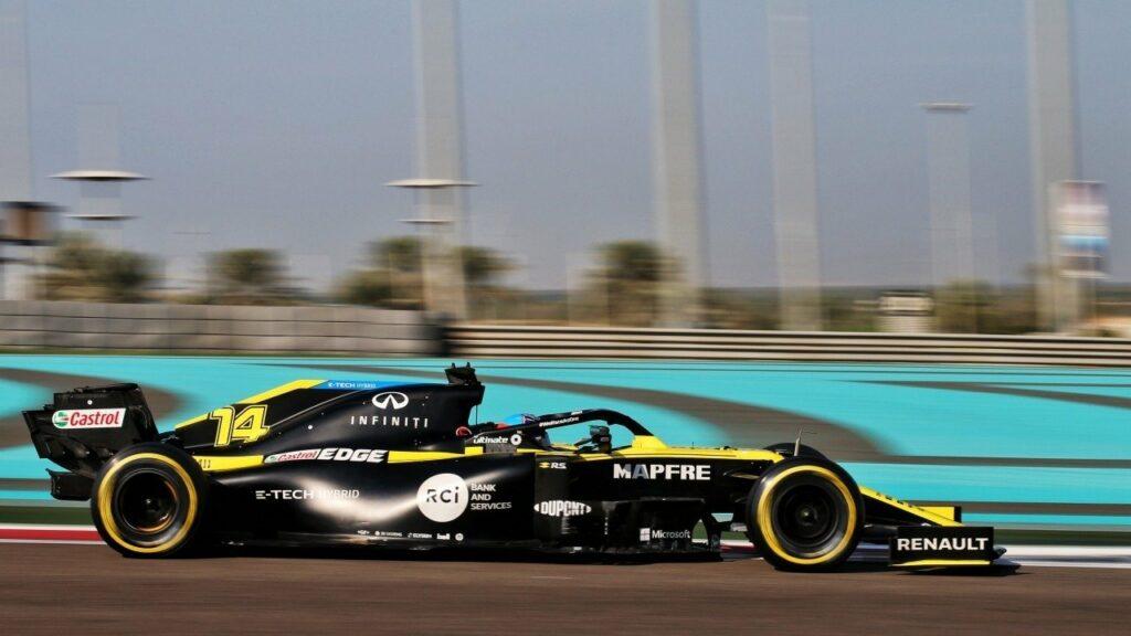 F1; FERNANDO ALONSO; TESTE DE NOVATOS; ABU DHABI;
