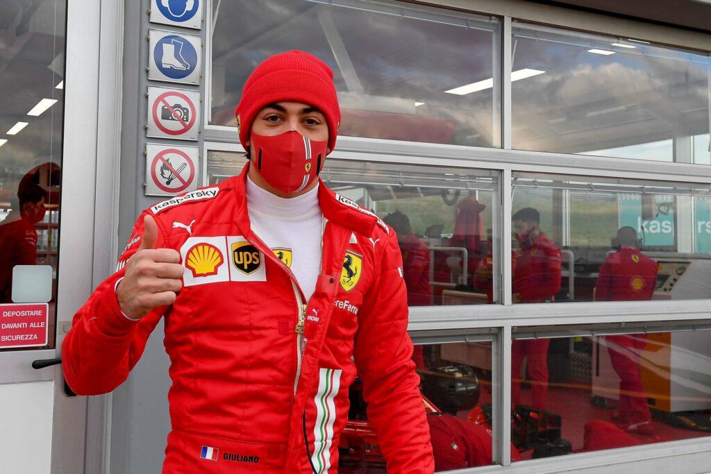 Giuliano Alesi, Fórmula 1 2021, Fiorano, Ferrari