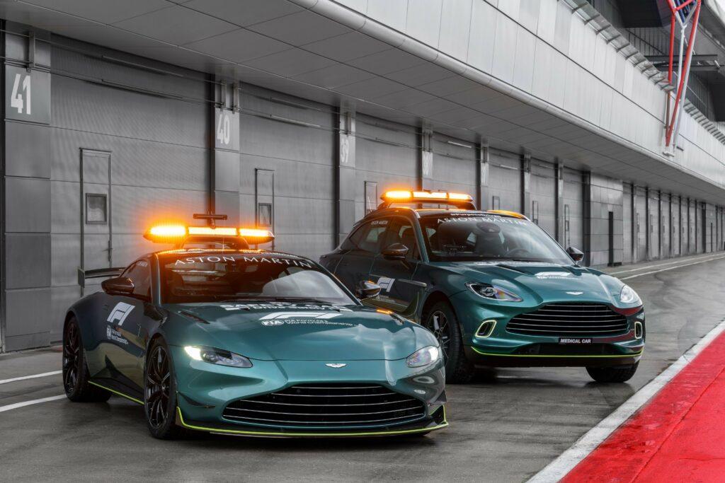 ASTON MARTIN; SAFETY-CAR; CARRO MÉDICO; CARRO DE SERVIÇO; FÓRMULA 1; F1 2021;