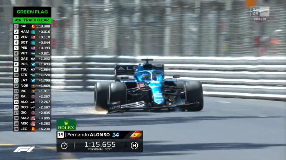 FERNANDO ALONSO; F1; F1 2021; GP DE MÔNACO; TREINO LIVRE 1; ALPINE;