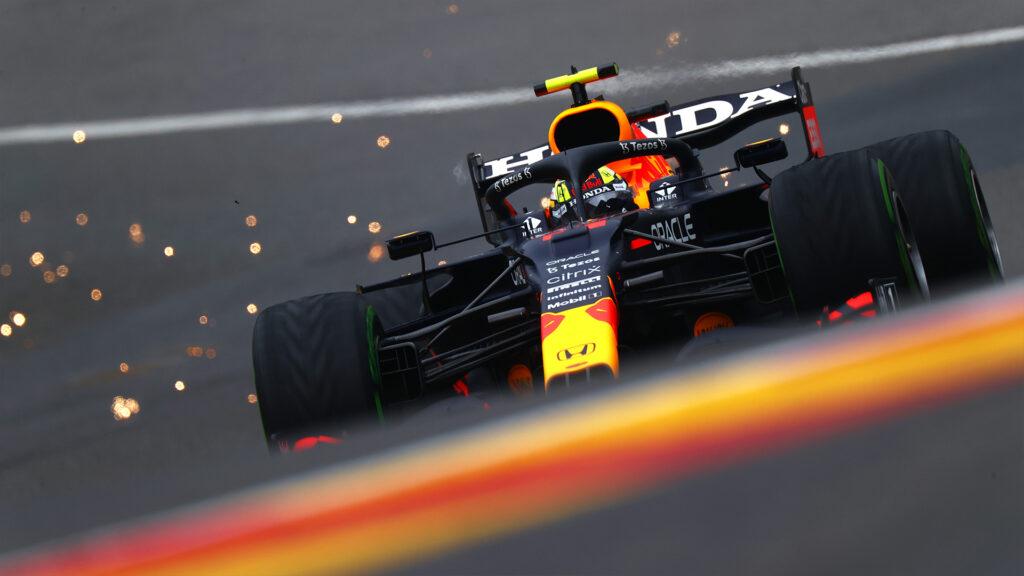 Sergio Pérez Red Bull Free Training 3;  GP Bélgica;