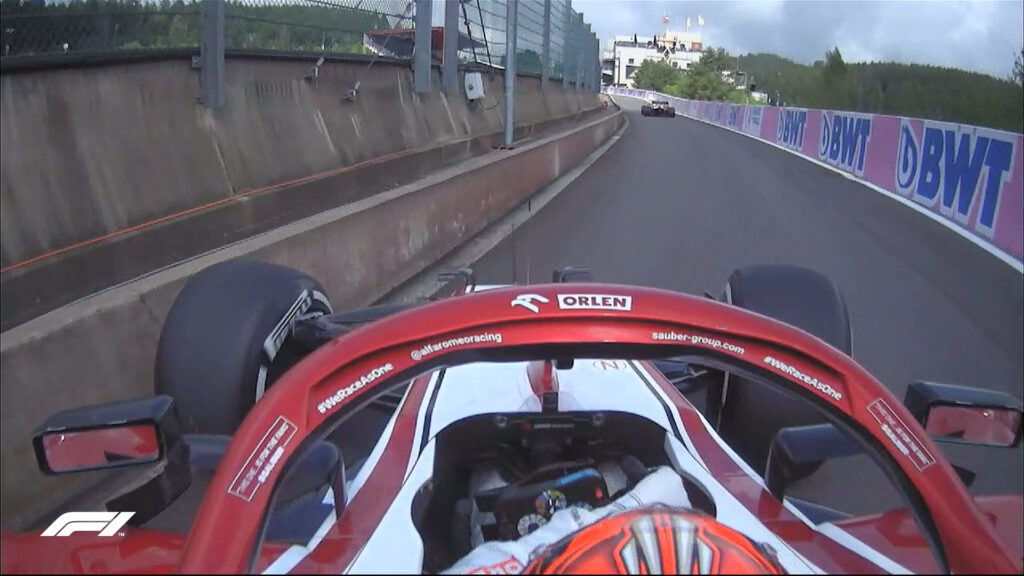 Kimi Raikkonen;  Fórmula 1;  GP Bélgica;  1 formación gratuita;  Alfa Romeo;