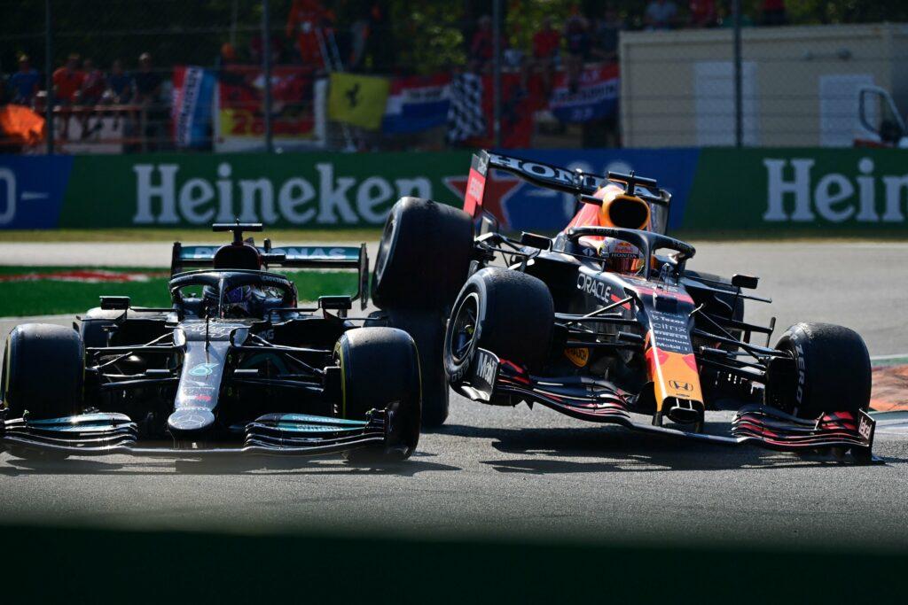 MAX VERSTAPPEN; LEWIS HAMILTON; GP DA ITÁLIA; MONZA; F1; INCIDENTE;